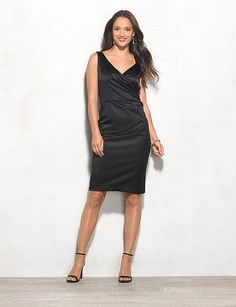 db RSVP™ Draped Satin Dress