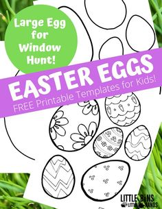 These Easter Egg Printable Templates make the perfect addition to your spring themed lesson plans. With so many fun designs, your kids will enjoy spending hours choosing colors to make their eggs completely unique. Give these free printable Easer Egg Templates a try today with your kids! Kids Learning Activities, Easter Activities, Holiday Activities, Free Easter Coloring Pages, Coloring Easter Eggs, Easter Art, Easter Crafts, Kids Crafts, Templates Printable Free