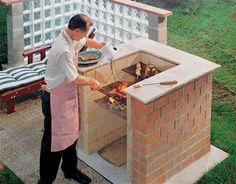 DIY Brick Barbeque