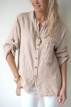CHILL OUT Shirt, BEIGE