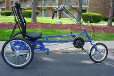 Trailmate Meteor Recumbent Trike available in a three speed or twenty one speed and in red or blue Tricycle Bike, Adult Tricycle, Three Wheel Bicycle, Electric Tricycle, Bicycle Rims, Bike Trailer, Motorcycle Gloves, Surf Shop, Cool Cars