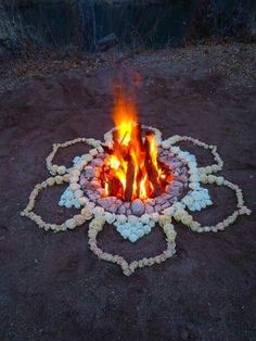 Flower Fireplace Idea