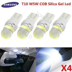 Epic pcs Silica Gel Led T COB WW Ceramic Car Interior LED T COB WW Wedge Door