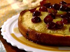 Get Warm Grape Cake Recipe from Food Network