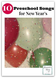 What fun it will be to welcome the New Year or celebrate New Year's Eve with these ten preschool songs for New Year's. Each is sung to a familiar tune. New Year Eve Song, Happy New Year Song, New Year Music, New Years Song, New Years Eve Day, New Year Art, Preschool Music, Preschool Lessons, Preschool Activities