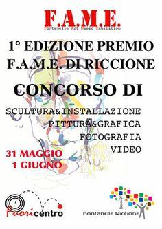F.A.M.E. 2014 Fontanelle Arte Musica Eventi contemporanei a Riccione 31 maggio e 1 giugno 2014 tra Pittura, grafica, Fotografia, Video, Scultura e Installazioni
