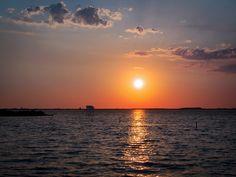 Sunset at Ionian sea