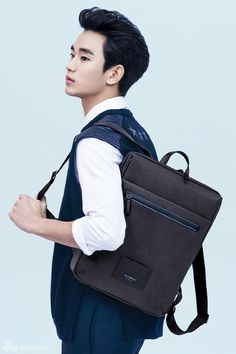 Kim Soo Hyun and Angelababy for Samsonite Red Spring 2014 Ad Campaign 140110