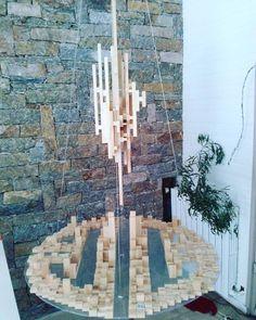 """Ville Flottante""2 teya : Clélia Portal #art #cleliaportal #teya #sculpture #matiere #survivance #nature #contemporain #installation #marseille #cercle #jeune #france #sud #papier #pjt #mecene #exposition #femme #artiste#carton #bois #www.teya.fr"