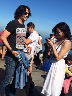 Awesome Lana and Fred Lana obviously looking at pics on her iPhone at awesome Butler's Creek in Rio de Janeiro Brazil Monday 6-29-15