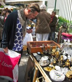 Saturday morning and it's market time again. We rendezvous with our Parisian guide, Victus, for an assault on Porte de Vanves stree. Visit France, France 1, Paris France, A Day In Paris, Paris Flea Markets, Paris 2015, French Countryside, French Chic, Marketing
