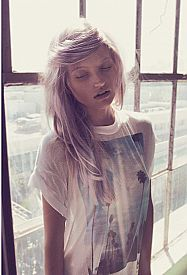 Brands such as 'Wildfox' have been creating lots of rebellious and out of the norm t-shirts with screen prints on them recently. Animals such as foxes and deers and places such as Los Angeles and NYC as well as rebellious sayings are a common trend seen on the screen t-shirts. Addie R