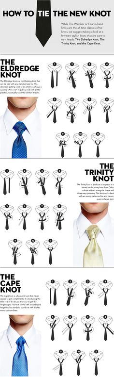 Men's Neck Ties, The Eldridge, Trinity, and Cape Knots
