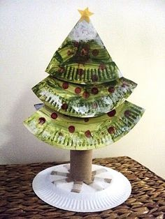 paper plate tree