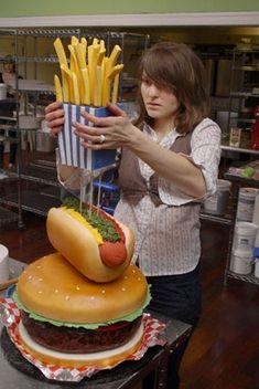 1000+ ideas about Burger Cake on Pinterest