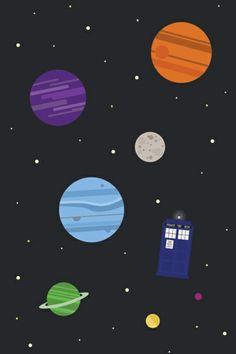 The Doctor and his Tardis among the stars