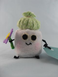 Adorable Plush Marshmallow Get Well Greeting