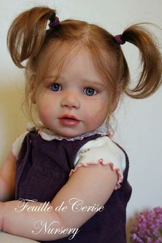 Feuille de Cerise Nursery - reborn toddler girl Lilly Kit by Regina Swialkowski in Dolls & Bears, Dolls, Clothing & Accessories, Artist & Handmade Dolls | eBay