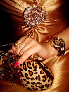 leopard clutch<3