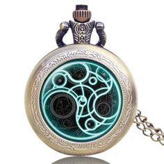 Vintage Bronze Doctor Who Theme Fob Watch Retro Quartz Pendant Pocket Watch with Chain Necklace Unisex Men Women Gifts Relogio Doctor Who Necklace, Pocket Watch Necklace, Necklace Chain, Quartz Pocket Watch, Quartz Watch, Amazing Watches, Steampunk Necklace, Chains For Men, Luxury Watches