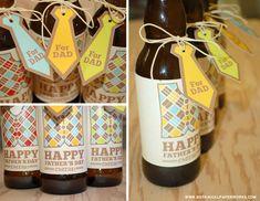 Pour la fête des pères....des étiquettes de cadeau pour ses bières!