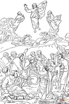 104 Best Transfiguration Images In 2019 Catholic Coloring Pages