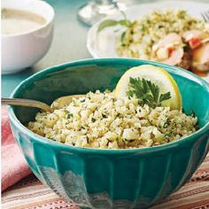 Cauliflower Rice with Parsley & Lemon @keyingredient