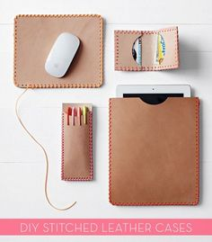 DIY Stitched Leather Cases