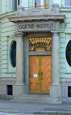 Goethe Institute entrance, Prague, Czech Republic