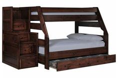 Sedona Twin/Full Bunk Bed W/Trundle/Mattress/Stair Chest - Signature