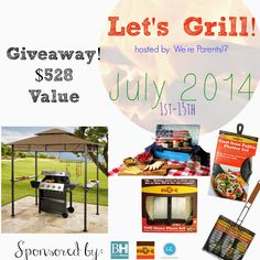 Let's Grill - Summer Giveaway - ends 7/15 enter here http://www.everythingmommyhood.com/2014/07/lets-grill-summer-giveaway-ends-715.html for your chance! GET IN NOW ENDS TONIGHT!!!  I entered! I WANT TO WIN! Thanks, Michele :)