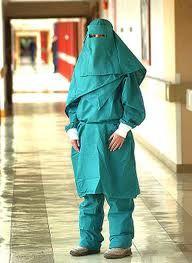 Muslim nurses in berka scrubs?