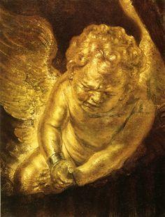 Detail from Danae - Rembrandt van Rijn, 1636