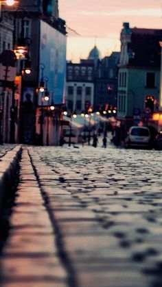 Evening Old Town Area #iPhone #6 #plus # wallpaper