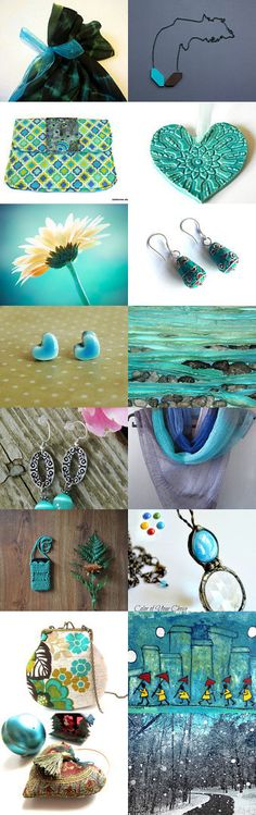 Turquoise rhymes with…. by Margie Sarrao on Etsy--Pinned with TreasuryPin.com
