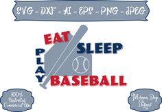 Baseball SVG - Eat Sleep Play Baseball SVG - Sports svg - Files for Silhouette Studio/Cricut Design Space by MorganDayDesigns on Etsy