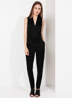 Uterqüe Mexico - Black Tailored Jumpsuit
