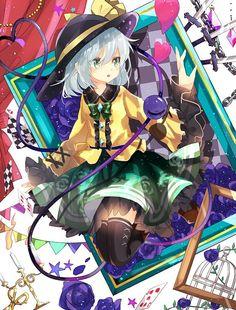 Koishi Komeiji Cute Anime Chibi, Anime Girl Cute, Beautiful Anime Girl, Kawaii Anime Girl, Anime Art Girl, Touhou Anime, Scarlet, Cg Art, Anime Fantasy