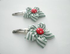 Green red and white girls handmade by creationsforchildren on Etsy