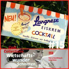 Langnese-Plakat Cocktail-Becher von 1958