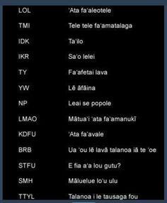 Text language in Samoan translation .... Hilarious!!!!!!