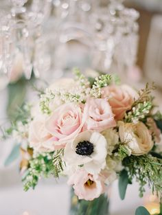 #anemone, #rose  Photography: Milton Photography - www.milton-photography.com  Read More: http://www.stylemepretty.com/2014/06/23/french-chateau-wedding-inspiration/