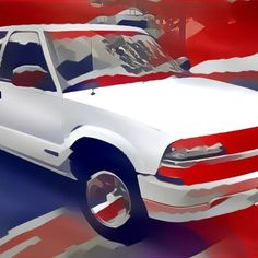 Another dreamscope picture of my truck, Jessie. This time, I combined the picture with the American flag.