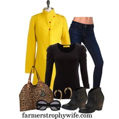 """""""yellow"""" by farmerstrophywife on Polyvore"""