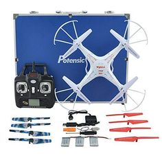 RC Quadcopter Potensic Premium Upgraded X5C-1 Syma RC Drone 2.4GHz CH 6 Axis Gyro Quadcopter with Additional Spare Parts and Carrying Case