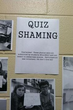 The creator of the quiz shaming board. | 27 Times Teachers Found Joy In Their Work