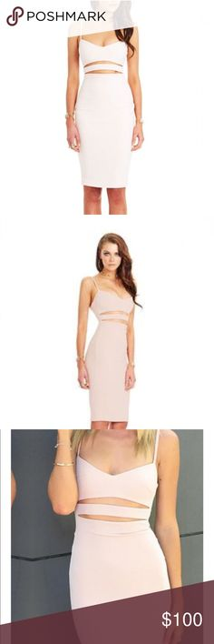 Nookie Bridget Bustier Dress All Nookie dresses are brand new with tags. Blush color. Nookie Dresses Midi