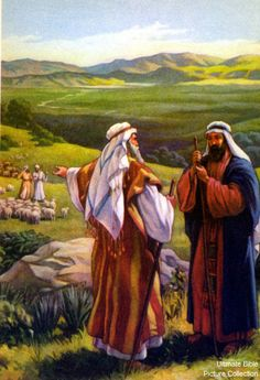 Genesis 13 Bible Pictures: Abram with his nephew Lot