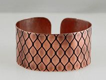 Dragon scale - copper bracelet