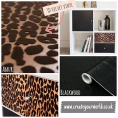 """Create Your World Ltd (@createyourworldltd) posted on Instagram: """"This vinyl by #dcfix definitely has animal attraction with this premium #3d effect! 🐆 complimented with a black woodgrain .. this look is…"""" • Jan 11, 2021 at 9:24pm UTC Dc Fix, Ikea Furniture Hacks, Jan 11, Wood Grain, Attraction, Compliments, 3 D, Create Yourself, Animal"""